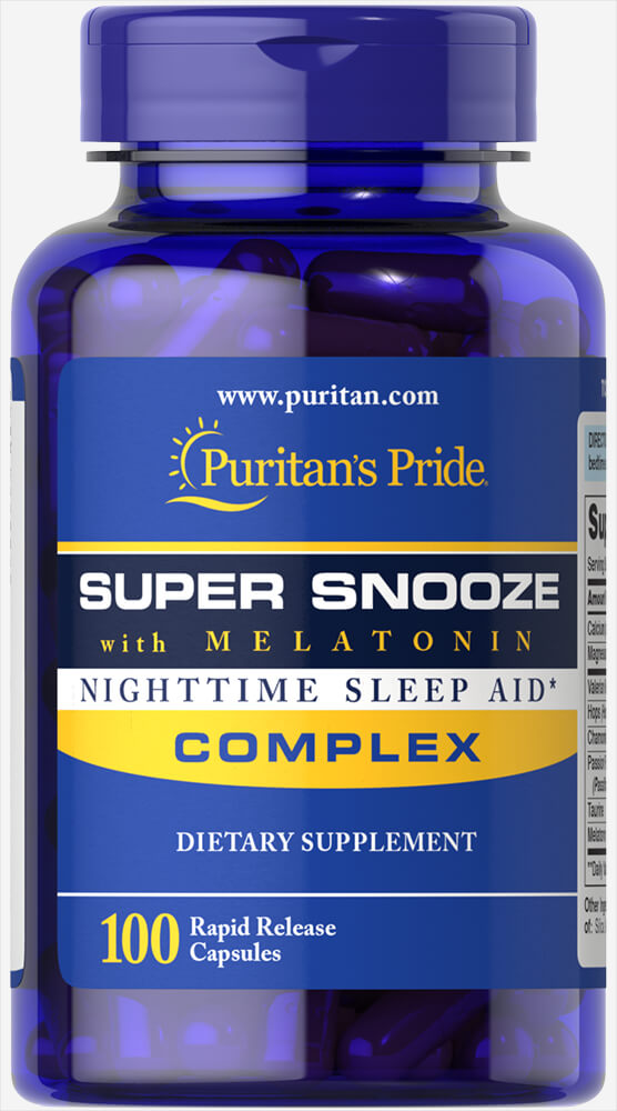 Заказать Super Snooze Complex with Melatonin (100 капс) (Puritan's Pride) - цена  руб.