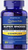 Super Snooze Complex with Melatonin (100 капс) (Puritan's Pride)